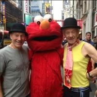 Twitter Watch: WAITING FOR GODOT's Patrick Stewart and Ian McKellen Pose with Elmo in Times Square!