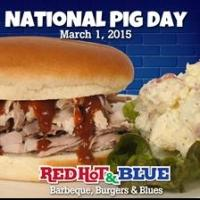 Red Hot & Blue Restaurants in Virginia and Maryland Celebrate National Pig Day