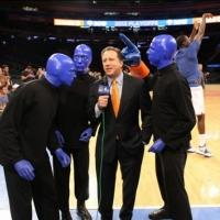 Photo Flash: Blue Man Group Visits New York Knicks Game
