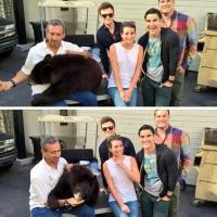 Photo Flash: Lea Michele Shares First Look at New GLEE Co-Star - A Bear??!