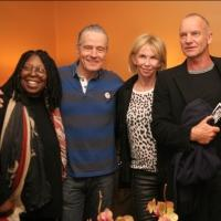 Photo Flash: Whoopi Goldberg, Sting, Janet Langhart Cohen and More Visit Bryan Cranston at ALL THE WAY