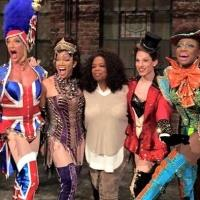 Oprah Visits KINKY BOOTS & Poses For Pic With Cast Onstage