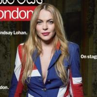 Photo Flash: SPEED-THE-PLOW Star Lindsay Lohan Dons Union Jack in Time Out London Cover