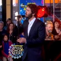 VIDEO: Josh Groban Performs CHORUS LINE, 'Over the Rainbow' on GMA