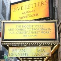Up on the Marquee: LOVE LETTERS, Starring Brian Dennehy and Mia Farrow