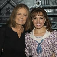 Photo Flash: Gloria Steinem Visits Broadway's NEWSIES