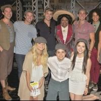 Photo Flash: TEEN BEACH MOVIE Cast Visits NEWSIES!