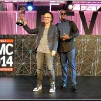 Sean 'Diddy' Combs Presents Beats CEO/Chairman Jimmy Lovine With Award at RMC 2014