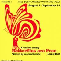 BUTTERFLIES ARE FREE Opens Today at the Broward Stage Door Theatre