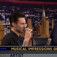 VIDEO: Adam Levine Plays Wheel of Musical Impressions on TONIGHT SHOW