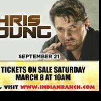 Marshall Tucker Band and Chris Young Set for Indian Ranch
