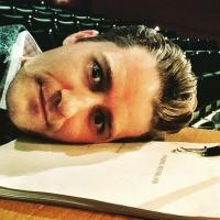 Photo Flash: Finding Glee? Matthew Morrison Studies FINDING NEVERLAND Script During GLEE Filming