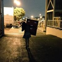 Photo: Lea Michele Exits GLEE Set Holding Finn's No. 5 Football Jersey