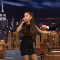 VIDEO: Ariana Grande Does 'Ew!'; Spot On Celine Dion Impression on TONIGHT SHOW
