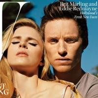 Photo Coverage: Brit Marling and Eddie Redmayne on W's Cover