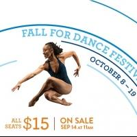 New York City Center Kicks Off 11th Annual FALL FOR DANCE FESTIVAL Today