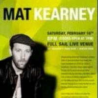 Full Sail University Welcomes Mat Kearney to 4th Annual Hall of Fame Concert Schedule Tonight