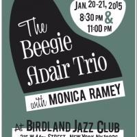 Beegie Adair Trio Headlines at Birdland This Week