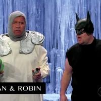 VIDEO: James Corden & Arnold Schwarzenegger Act Out Film Career in 6 Minutes