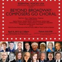 Stephen Flaherty, Andrew Lippa, Stephen Schwartz and More Set for Essential Voices' 'BEYOND BROADWAY' Concert Next Month