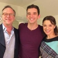 Photo Flash: Jenn Gambatese & Edward Hibbert Visit Michael Urie in BUYER AND CELLAR at Chicago's Broadway Playhouse