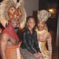 Photo Coverage: Quvenzhane Wallis  Visits THE LION KING!