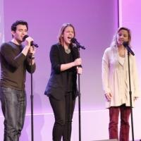 Photo Coverage: BEAUTIFUL's Jessie Mueller, Jarrod Spector & Anika Larsen Perform at Apple Store Soho Photos