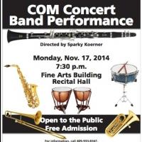 College of the Mainland Concert Band to Present Free Jazz Performance, 11/17
