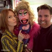 Photo Flash: Alicia Witt Visits AVENUE Q at New World Stages