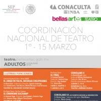 EN CARTELERA: Teatro del INBA (Marzo 2015)