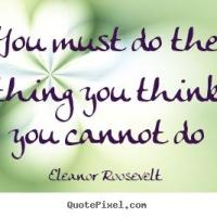 Fitness Tip of the Day: Do the Thing You Think You Cannot Do