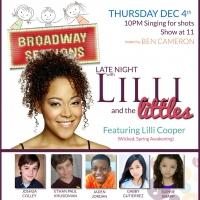 Broadway Kids and WICKED's Lilli Cooper Set for BROADWAY SESSIONS Tonight