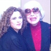 Photo Flash: Carol Channing Visits Bernadette Peters at the McCallum