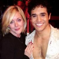 Photo Flash: Jane Krakowski, Lou Diamond Phillips Visit Adam Jacobs at ALADDIN on Broadway
