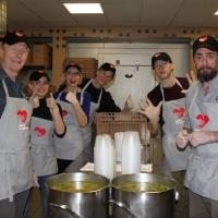 Photo Flash: YOU CAN'T TAKE IT WITH YOU Cast Lends a Helping Hand at God's Love We Deliver