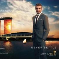 Marina Bay Sands Launches 'Never Settle' Campaign Featuring David Beckham