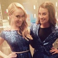 Lea Michele Sports Snazzy Sequins On Set Of GLEE's Final Season