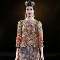 Photo Flash: First Look at Dolce&Gabbana Winter Woman 2014 - TAILORED MOSAIC