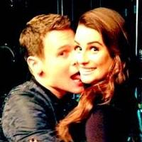 Jonathan Groff Spotted On Set With Lea Michele For GLEE Finale