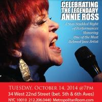 Annie Ross Performs Tribute & CD Release Show at The Metropolitan Room Tonight