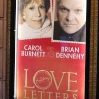 Up on the Marquee: LOVE LETTERS, Starring Carol Burnett & Brian Dennehy
