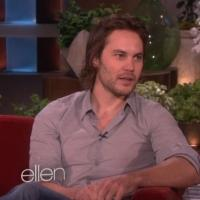Watch ELLEN Outline Taylor Kitsch's Assets on Today's Show