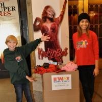 Photo Coverage: KINKY BOOTS Performers Join Broadway Kids Coat Drive