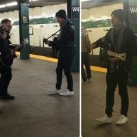 PHOTO: Nick Jonas Gives Surprise Performance on New York City Subway Platform