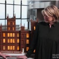 DOWNTOWN ABBEY Fan Martha Stewart Creates a Spectacular 'Gingerbread Abbey'