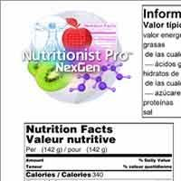 Axxya Systems Launches Nutrition Food Labels and Recipe Analysis for USA, Canada, Europe and Hong Kong