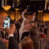 Photo: Benedict Cumberbatch Photobombs Meryl Streep at GOLDEN GLOBE AWARDS