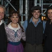 Photo Flash: Catherine Zeta-Jones and Michael Douglas Visit NEWSIES