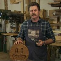 VIDEO: Nick Offerman Showcases Handcrafted Oak Emojis on CONAN