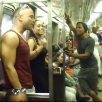 STAGE TUBE: Broadway's THE LION KING Cast Bursts Into Song on the Subway
